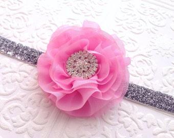 The Pink Chiffon Dream Headband or Clip