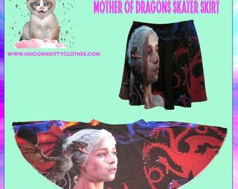 Mother of Dragons Skater Skirt - Game of thrones -