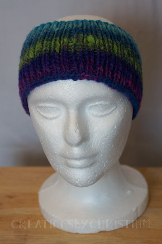 Knitting Pattern Ribbed Headband : Ribbed Knitted Ear Warmer Headband