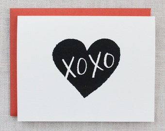 XOXO Screen Printed Card