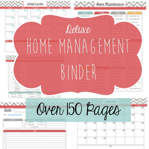 Home Management Binder Deluxe Edition Over By