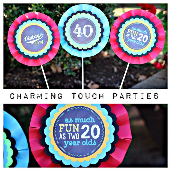 40th birthday party decor chalkboard centerpiece sticks for 40th birthday decoration packs