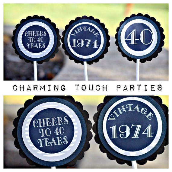 40th Birthday Decorations Blue Image Inspiration of Cake and