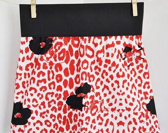 Black, white, red cotton skirt with large elastic belt / gonna nera, bianca e rossa di cotone con elasticone in vita