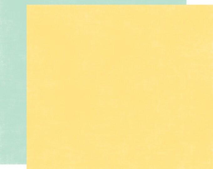 2 Sheets of Echo Park Paper SPRINGTIME 12x12 Scrapbook Paper - Lemonade/Robin's Egg Blue