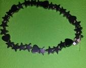Hematite Bracelet - Child  - Stars/Hearts- Reiki Infused