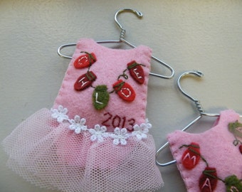 Ballerina Tutu Dress--Personalized Girl Christmas Ornament or Baby Shower Gift, Baby's First Christmas