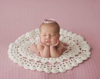 Crochet Baby Rug,  Photo Prop, Arild