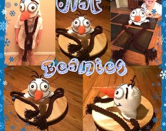 Crochet Infant Olaf Frozen Beanie Hat