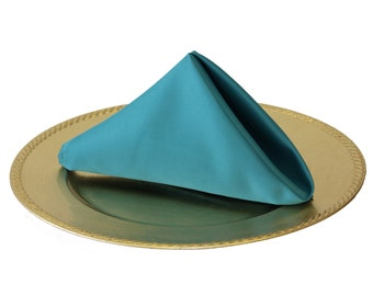 Teal Napkin for Weddings, 20 Inch L'amour Wedding Napkins