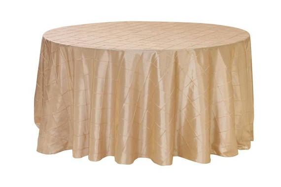 120 inch champagne pintuck round tablecloth wedding for 120 round table cloths