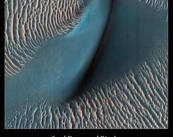 Custom Print of Richardson Crater on Mars