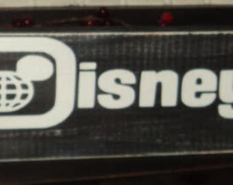 Miles To Disney World Themed Wooden Wall Sign