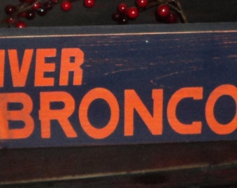 Denver Broncos Wooden Wall Sign
