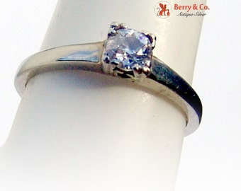 Solitaire Diamond Ring 18 K Gold