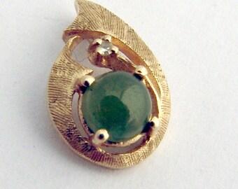 Nephrite Jade Pendant 14k Gold