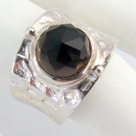 smoky quartz ring sterling silver by berrysgems on etsy