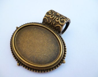 Brass Cameo Charm Pendant_SFBP_Brass Cameos of: 26x19mm_6pcs