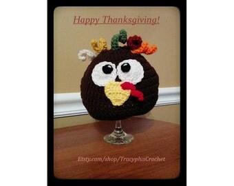 Crochet Turkey beanie. Turkey hat. Thanksgiving hat. Handmade to order.