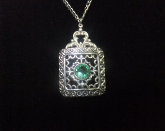 Fancy Green Gem Necklace