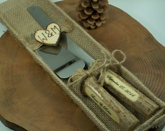 Natural Jute Packaging for Rustic Wedding Set