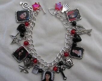 Michael Jackson Photo Charms Bracelet