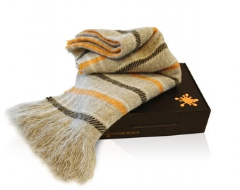 Wool Throw Blanket, Soft and Fluffy Carnival Throw - No Synthetics or Chemical Dyes