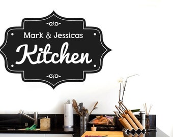 Personalised Kitchen Vintage Sign Wall Sticker
