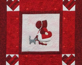 PDF Download - Sunbonnet Sue Valentine Wall Hanging Pattern
