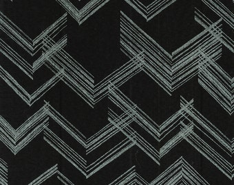 Black and Silver right angle with Metallic by Kanvas by Benartex