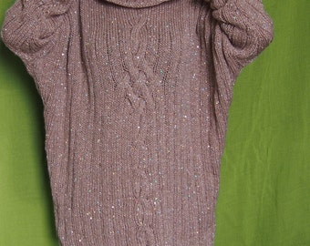 Handmade Over sized Sweater Dolman Sleeve Sweater with  Turtleneck & Nara PP013