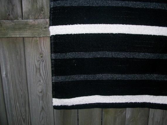 black and white rug mat black white grey stripe by