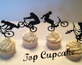 BMX Bicycle Cupcake Toppers