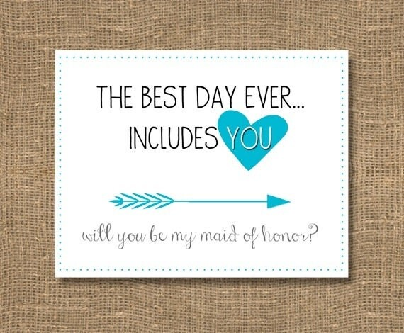 How To Be The Best Maid Of Honor: The Best Day Ever Includes You / Will You Be My Maid Of Honor
