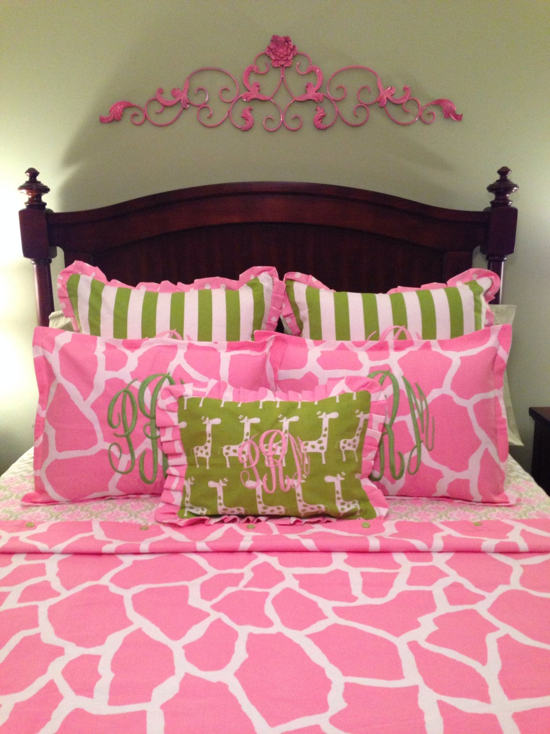 Pink Twin Tails Cartoon Pants Candy Stripper X Amoyamo: Pink Giraffe Print Twin Twin XL Or Daybed Duvet Comforter