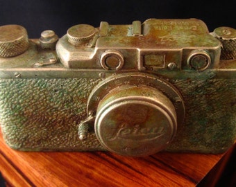 Vintage Leica 100% concrete.  Makes a great present for photographers.