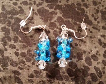 Lamp Work Glass Gummi Bear Earrings