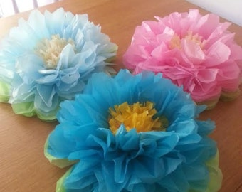 "2 14""  wedding table centrepieces baby shower party decorations tissue paper pom poms"