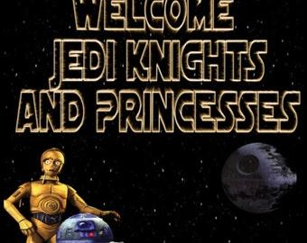Custom Star Wars Welcome sign