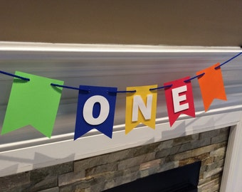 One High Chair Banner - I am One Banner - Highchair Banner - Pennant Banner