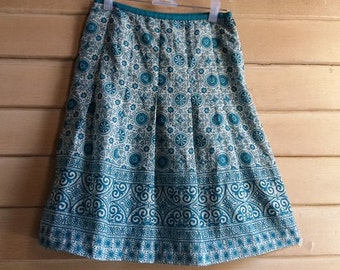 "90s Chiffon Skirt - Bohemian Hippie Gypsy Skirt - Indian Style - Size S or Girl Skirt - 25"" waist"