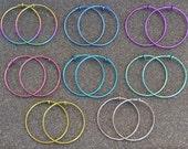 """18 g. Niobium 1 1/8"""" (29 mm) Hoop Earrings - Choose a color!"""