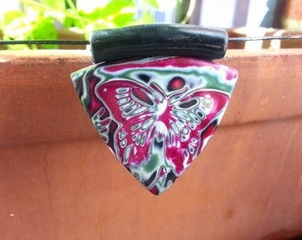 Butterfly Polymer clay pendant