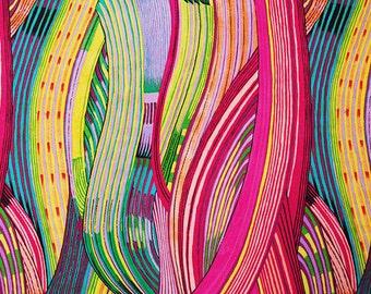 Alexander Henry - Mashama Stripe - Fuchsia Multi