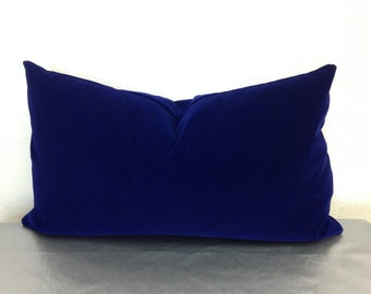 Royal Blue Velvet Pillow Cover Holiday Decor Pillows