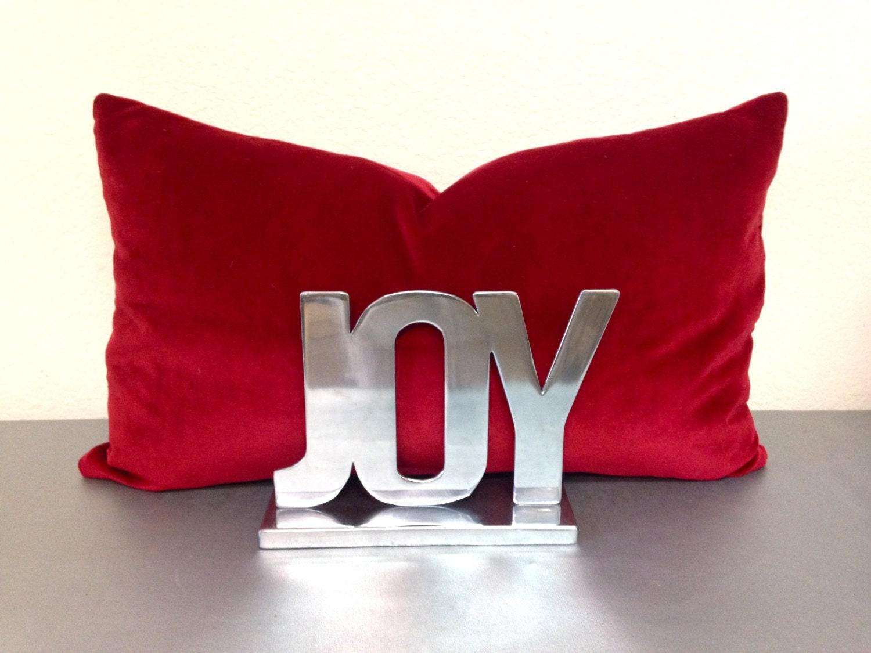 Red Velvet Pillow Cover Red Lumbar Pillow/Red Velvet/Red