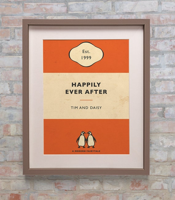 Penguin Book Cover Personalised : Personalised penguin book cover print new colours by bokaprint