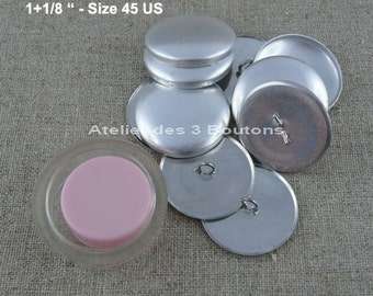 """5 Cover Buttons 1.1/8"""" (Size 24) with assembly tool"""