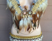Light Up Owl Plunge Rave Bra and Bottoms