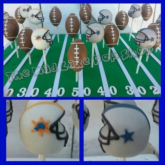 Football Jersey Cake Pops - Football Helmet - Football Cake Pop - Football Party - Birthday - Favor - Cake Pop Stand - Mad Cake Pop Shop